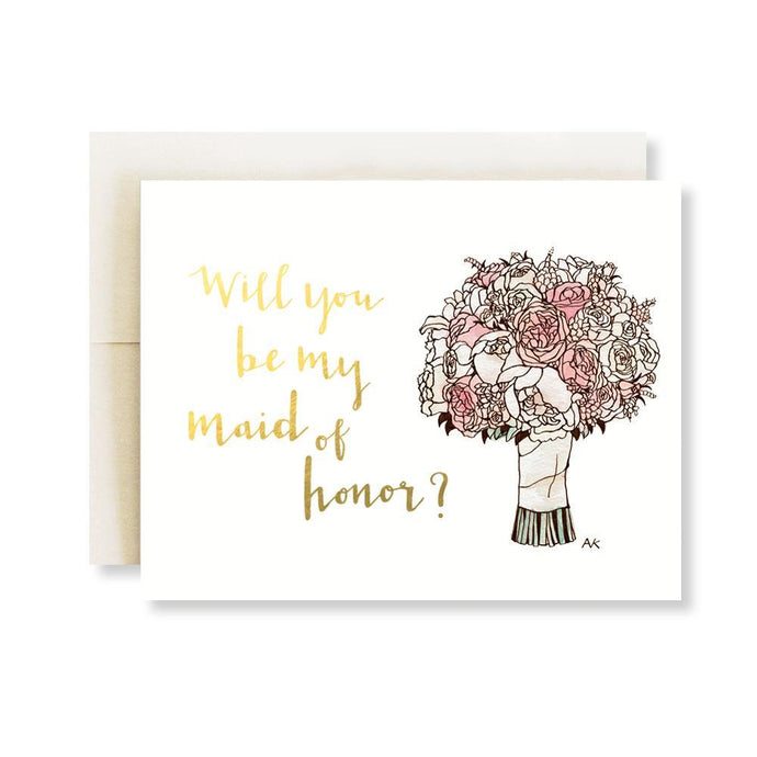 Maid of Honor Card w. Gold Foil - Joy Street