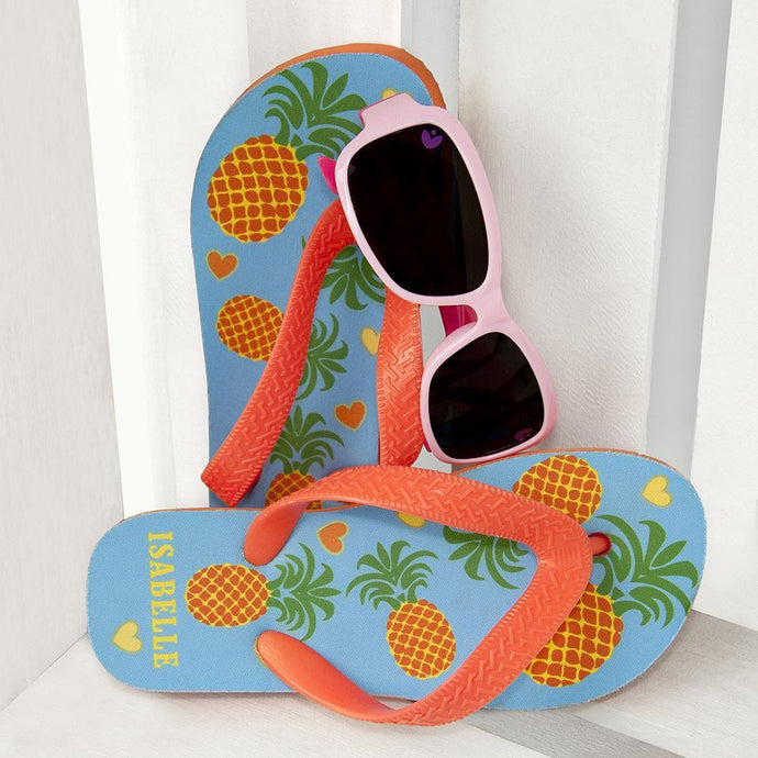 Child's Personalised Pineapple Flip-flop - Joy Street