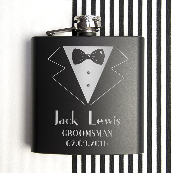 Personalised Thank You For Being My Groomsman Flask - Joy Street