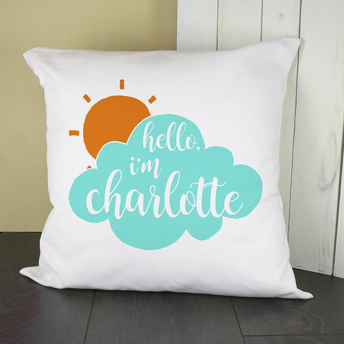 Personalised Baby On Cloud Pillow Cover - Joy Street