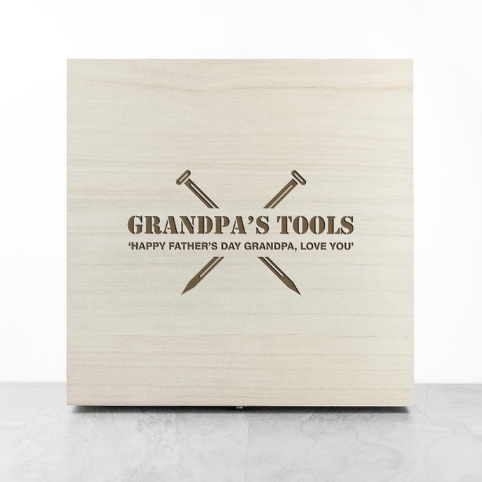 Personalised You Save The Day Wooden Tool Box - Joy Street