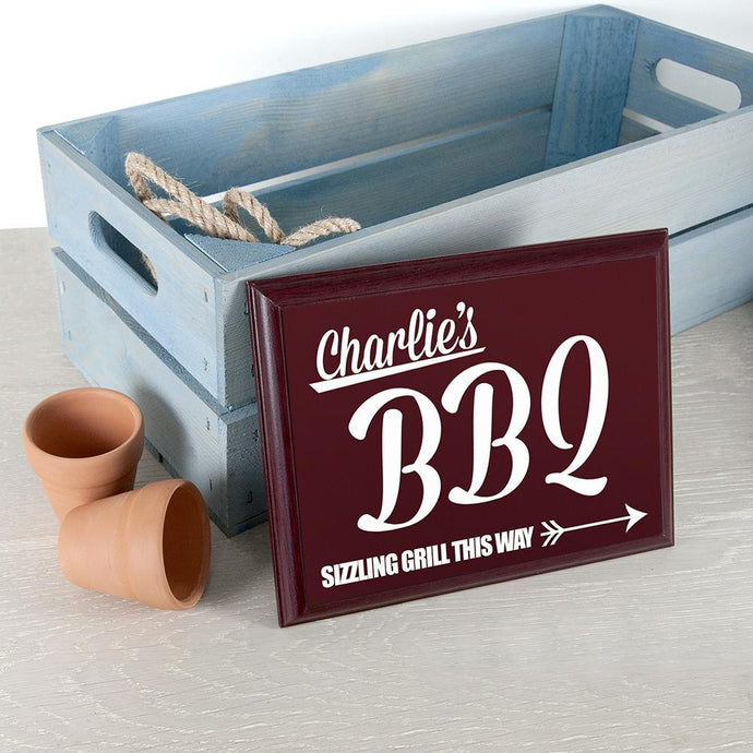 Personalised BBQ This Way! Garden Plaque - Joy Street