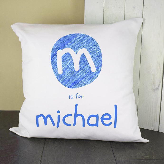 Personalised Blue Cushion Cover - Joy Street