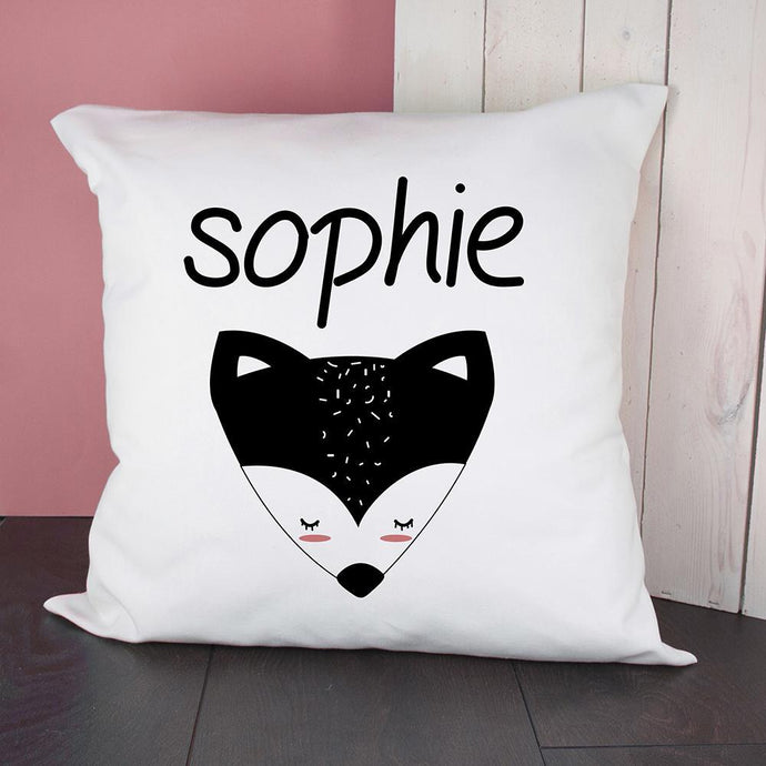 Personalised Little Fox Face Cushion Cover - Joy Street