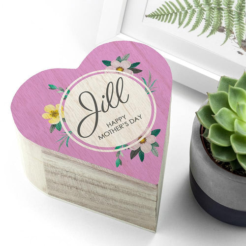 Personalised Mother's Day Heart Trinket Box - Joy Street