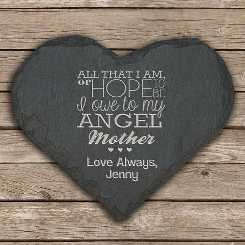 Personalised My Mother is an Angel Slate Heart - Joy Street