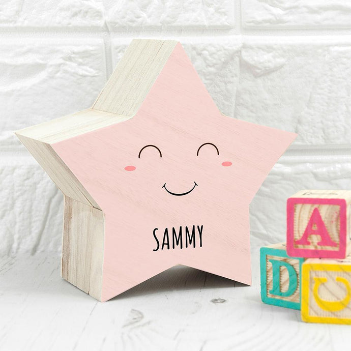 Personalised Smiling Star Pastel Trinket Box - Joy Street