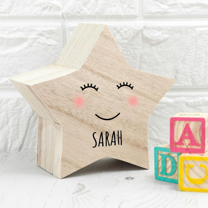 Personalised Smiling Star Trinket Box - Joy Street