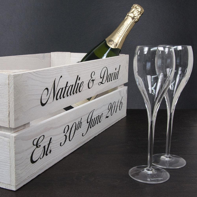Personalised Wedding Crate - Joy Street