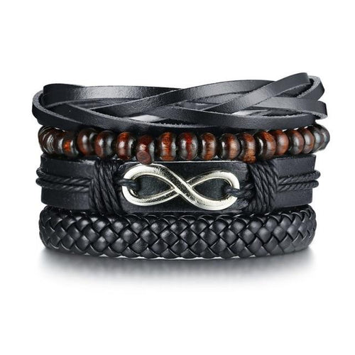 Benjamin Multi Layered Leather Bracelet - Joy Street