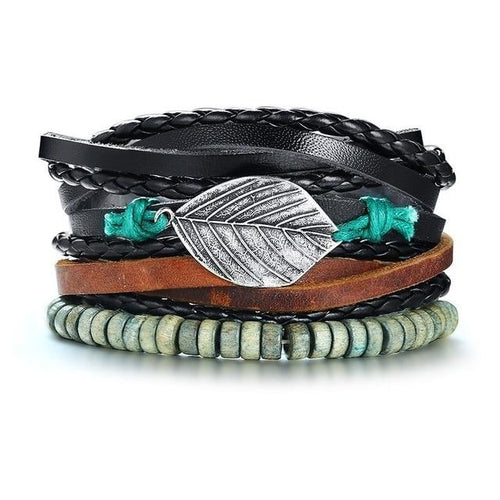 Joshua Multi Layered Leather Bracelet - Joy Street