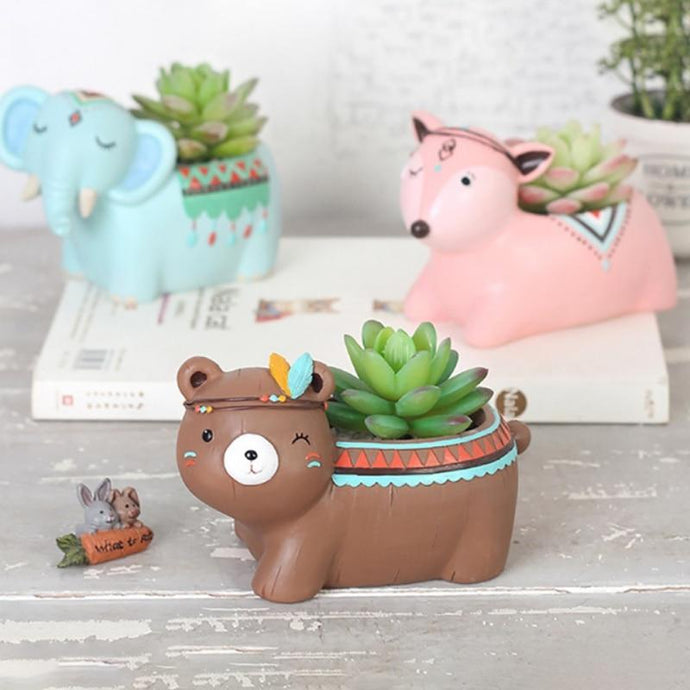 Happy Animals Succulent Planter - Joy Street