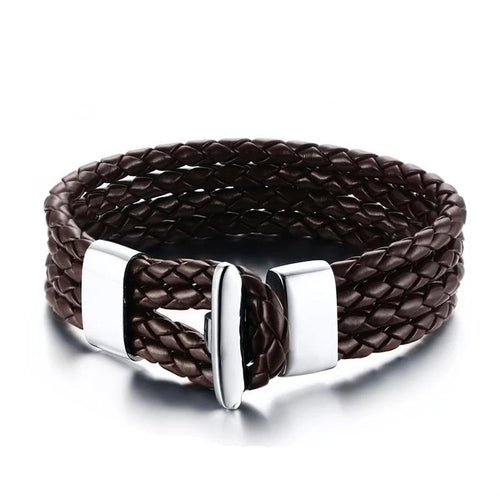 4 layers Braided Leather Bracelet - Joy Street