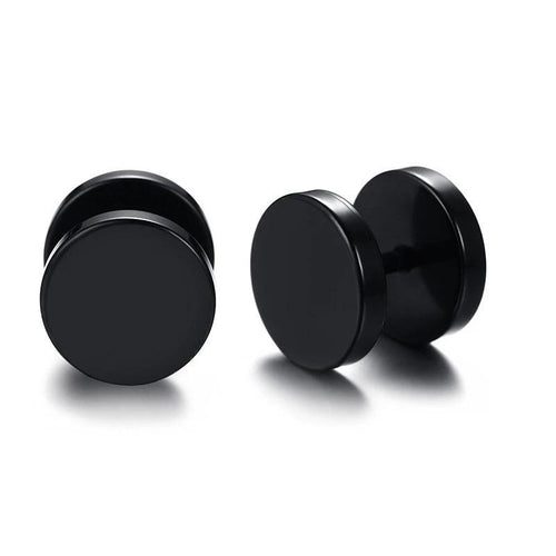 Black Stainless Steel Stud Earrings - Joy Street