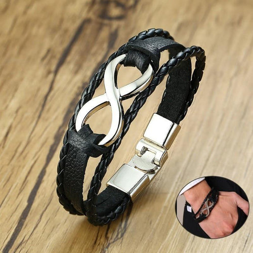 Logan Cuff Leather Bracelet - Joy Street