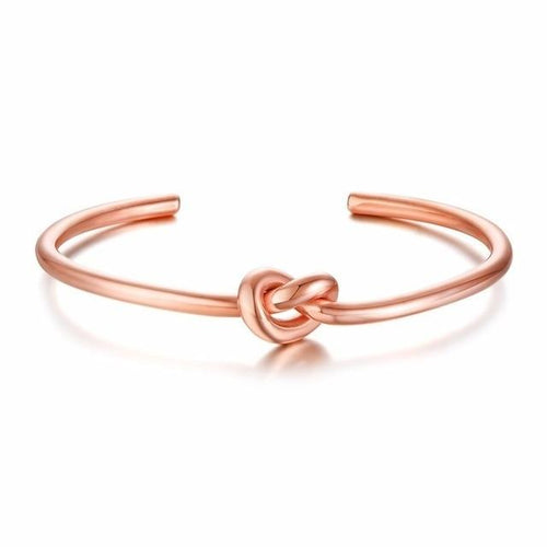 Rose Gold Knot Bangle for Women - Joy Street