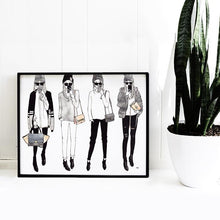 Load image into Gallery viewer, Selfie Girls Chic Wall Art Print - Joy Street