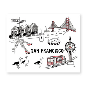 San Francisco Wall Art Print - Joy Street