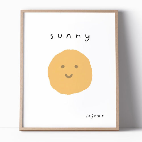Happy Sunny Print Illustration Art Print - Joy Street