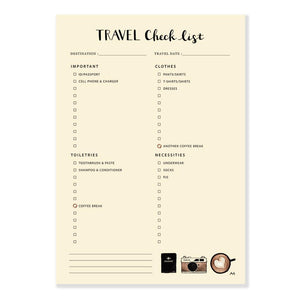 Travel Checklist Notepad - Joy Street