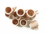 10 Salmon Coffee Tea FUNNEL Cup Mug Dolls House Miniature Ceramic Kitchen 3867
