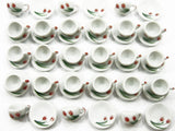 Dollhouse Miniature Ceramic 24/48 Tulip Coffee Cup Saucer Round Plate #M 4051