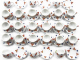 Dollhouse Miniature Ceramic 24/48 Paint Coffee Cup Saucer Round Plate #S 4068