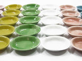 DollHouse Miniature Ceramic 30 Mixed Color Bowls Soup Plate 3.5 cm Supply 4253