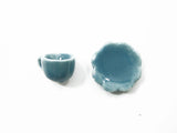 Dollhouse Miniature Ceramic 24/48 Blue Coffee Cup Saucer Scallop Plate #S 4414