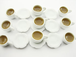 Dollhouse Miniature Food Drink Beverage 9 Coffee Cups Mugs #M Charms Supply 4759
