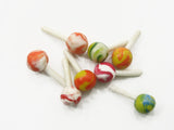 Dollhouse Miniature Food Lot Loose Mixed Color Lollipop Sweet Candy Supply