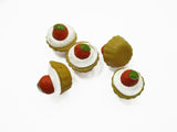 Dolls House Miniature Food Lot Loose Fruit Cupcake Orange Topping Deco
