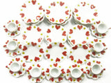 Dolls House Miniature Ceramic Kitchen 9/36 Heart Scallop Plate Cup Saucer 8046
