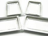 Dollhouse Miniature Accessories 4 Tiny Tin Trays #L For Bakery Bread Supply 8177