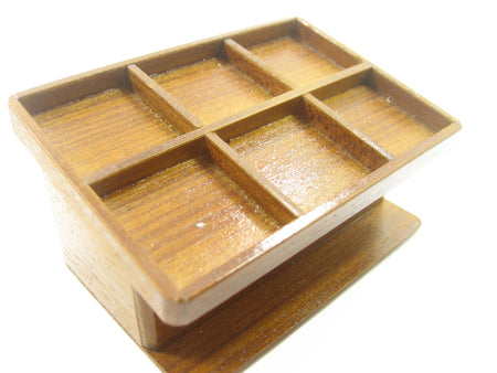 Dollhouse Miniature Empty Bakery Cake Wooden Display Stand Shop Handmade 8843