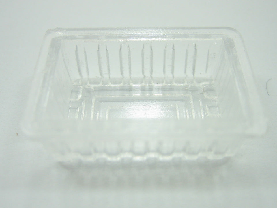 White Ceramic Tray of  9 Section Dollhouse Miniatures Supply Food Bakery