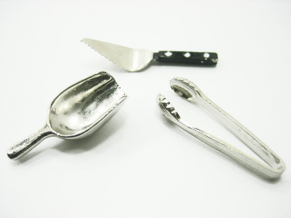 Dollhouse Miniature Mixed Accessories Metal Kitchen Bakery Tools Supply 8930