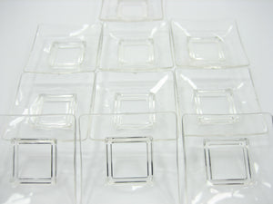 Empty Square Plate Acrylic 30x30 mm Dollhouse Miniatures Barbie Supply