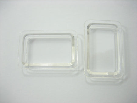 Empty Tray Size S Acrylic Plastic Dolls House Miniatures Supply Charms