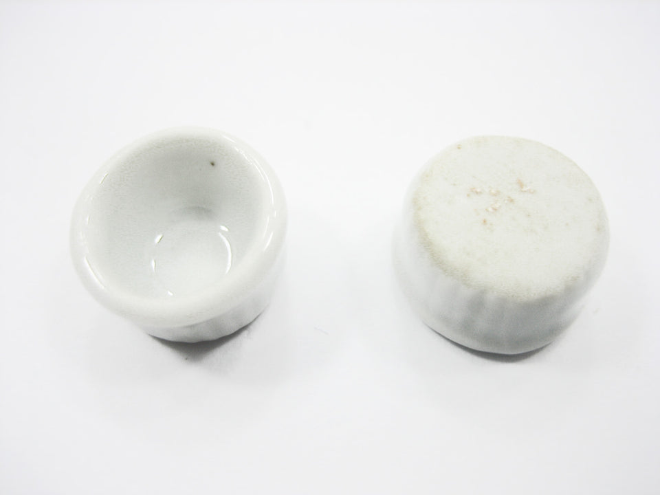White Round Souffles Bowl Dolls House Miniature Ceramic Cup Cake Supply
