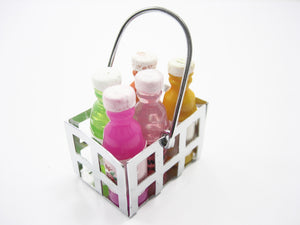 Empty Metal Basket Accessories Supply Dollhouse Miniature Food Supply 9515