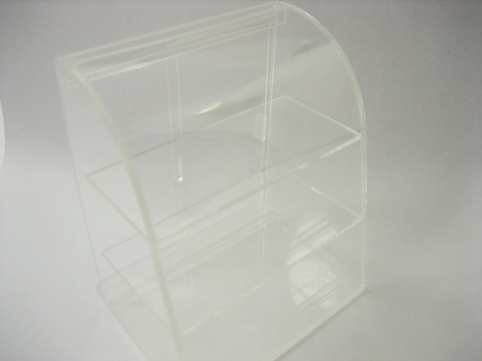 Clear Empty Acrylic Table Top Display Shop Dollhouse Miniatures Supply 9701
