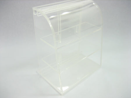 Small Empty Clear Acrylic Table Top Display Shop Dollhouse Miniatures 9971
