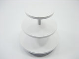 3 Tiers Empty Cake/Bakery White Wood Stand Dollhouse Miniatures Supply 9979