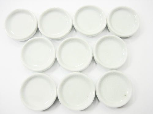 10x25 mm White Pan/Tray Dollhouse Miniatures Ceramic Kitchen Supply 10074
