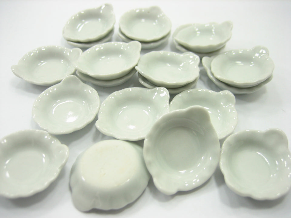 25 mm White Soup Bowl Dollhouse Miniatures Ceramic Food Supply Kitchen