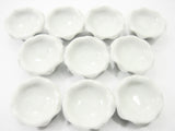 10 White Salad/Ice cream Scalloped Bowl Dollhouse Miniatures Ceramic 10080