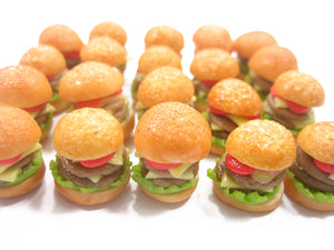 Dollhouse Miniatures Food Lot Hamburger Double Cheese Burger Supply