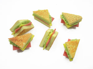 Lot Loose sandwich Toast Bread Bakery Dollhouse Miniatures Food Supply