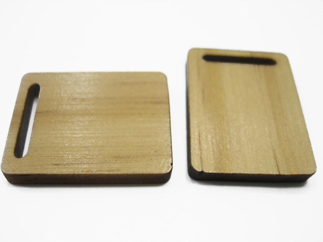 2 Cutting Wooden Board Kitchen Accessories Supply Dollhouse Miniature 10537